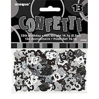 Unique Party Black Foil 13th Birthday Table Confetti