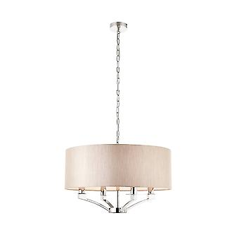 Interiors 1900 Vienna 4 Light Ceiling Pendant In Polished Nickel