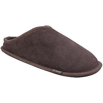 Cotswold męskie Hidcote kożuch ciepłe otwarty tył Premium Mule kapcie