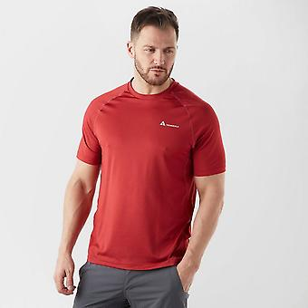New Technicals Men's Short Sleeve Crew Neck Response Tech T-Shirt Red