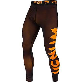 Venum 巨大な乾燥技術フィット カット圧縮スパッツ - ブラック/ネオ オレンジ
