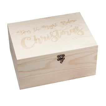Wooden Christmas Eve Keepsake Box Children Gift Twas the Night Before Christmas