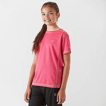 Neue Regatta Mädchen Kurzarm Rundhals Dazzler T-Shirt pink