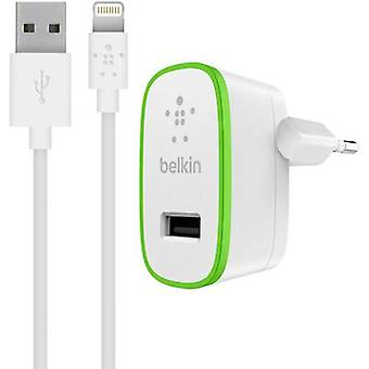 Chargeur d'iPad/iPhone/iPod Belkin, F8J125vf04 F8J125vf04-blk-WHT secteur prise Max. sortie courant 2400 mA 1 x USB, fiche de foudre Dock Apple