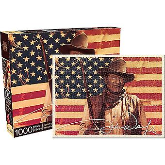 John Wayne flaga 1000 elementów Puzzle 690 X 510 Mm