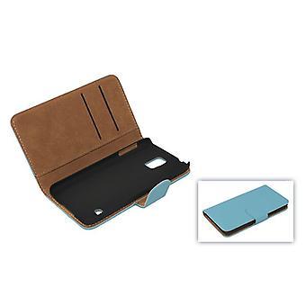 Matkapuhelin tapauksessa (flip cross) vakuutusturvaan mobiili Samsung Galaxy S5 / S5 neo sininen