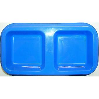 Plastic Dual Pet Feeding and Water Bowl Suitable for Cats or Small Dogs