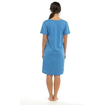 Donna divertente stampa manica corta maglia camicia da notte Nighty Nightie indumenti da notte