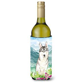 الزهور مونتيان أجش سيبيريا زجاجة النبيذ المشروبات عازل نعالها