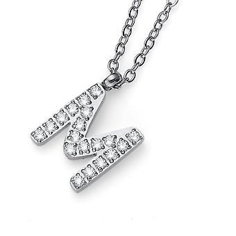 Oliver Weber Pendant Initial M Steel CZ Crystal