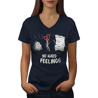 Juego mujeres loco NavyV-cuello camiseta de rock | Wellcoda