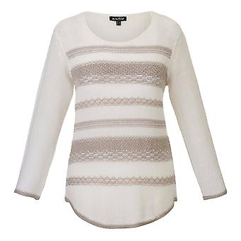 MARBLE Sweater 5219 White Or Beige