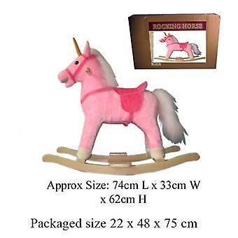 Roze schommelen Unicorn Toy Wth geluid