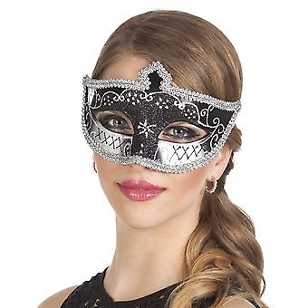 Eye mask Venice felina black Fancy Dress Accessory