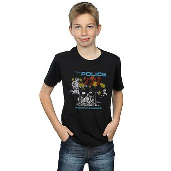 Duch policejních chlapců v tričku stroje