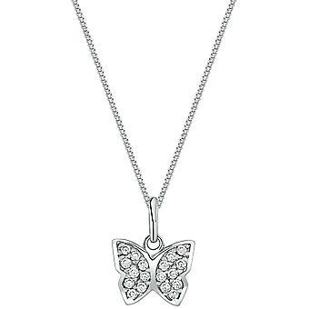 Bella Cubic Zirconia Pendant - Silver