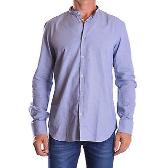 Manuel Ritz Ezbc128004 Men's Blue Cotton Shirt
