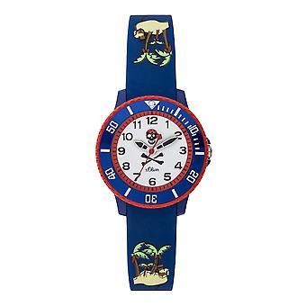 s.Oliver siliconen band horloge kinderen van jonge SO-3764-PQ