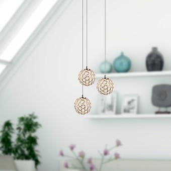 Brillcool Mars Nickel Three Pendant Round Canopy