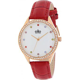 Elite E55072-809 - watch leather red woman