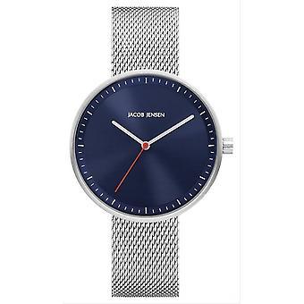 Jacob Jensen Strata Series Watch - Silver/Blue