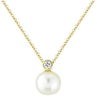 Mark Milton Diamond and Pearl Necklace - Yellow Gold