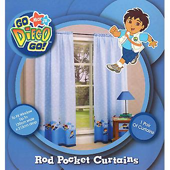 Go Diego, Go! Rod Pocket Ready to Hang Curtains