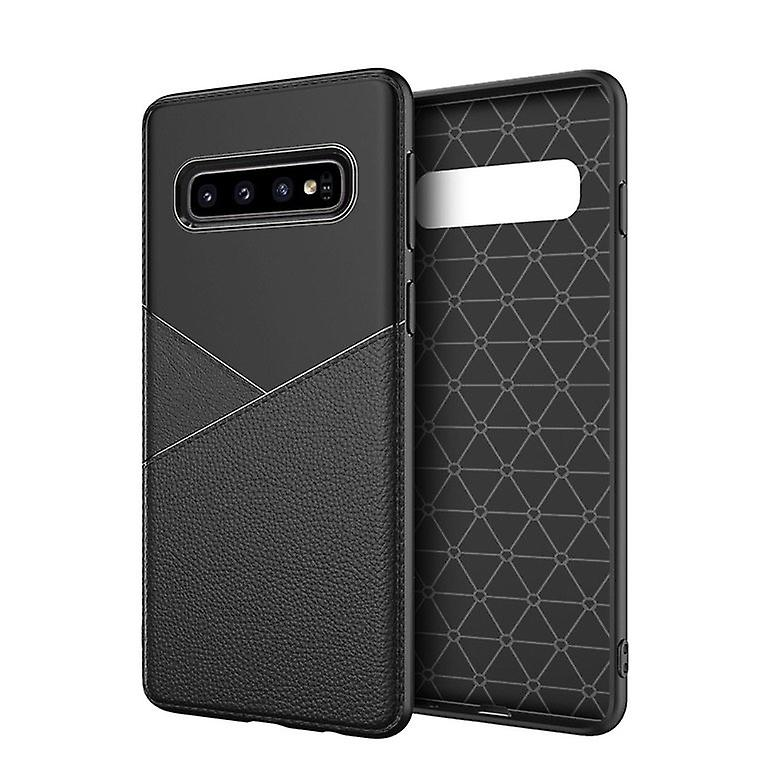 Leather and plastic Case - Samsung Galaxy S10