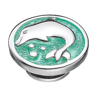 KAMELEON الأخضر دولفين سيبوب الجنيه الاسترليني الفضة JewelPop KJP129G