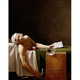 La muerte de Marat, Jacques-Louis David, 50x40cm