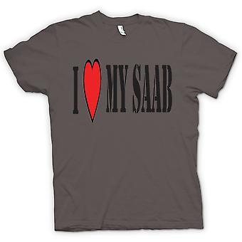 Womens T-shirt - ich LoveMy Saab - Spaß-Auto