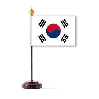 Südkorea-Tischfahne mit Stick und Base