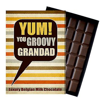 Gift for Grandad for Birthday or to say Thank You Chocolate Greetings Card Present for Grandfather YUM109