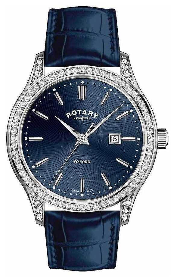 Rotary Womens Oxford Leather Strap Blue Quartz LS05092/05 Watch