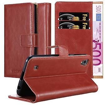 Cas Cadorabo pour la couverture de cas LG X Power - boîtier de téléphone mobile avec fermoir magnétique, fonction de stand et compartiment de carte - Cas Cover De cas Cas Case Book Folding Style