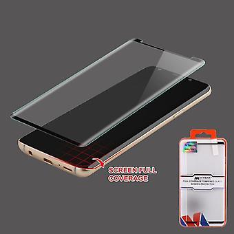 MYBAT full täckning härdat glas Skärmskydd/svart för Galaxy Note 9