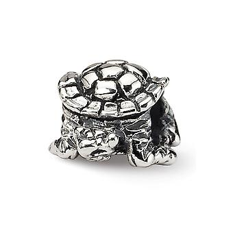 925 Sterling Silver finish Reflections Turtle Bead Charm Pendant Necklace Jewelry Gifts for Women