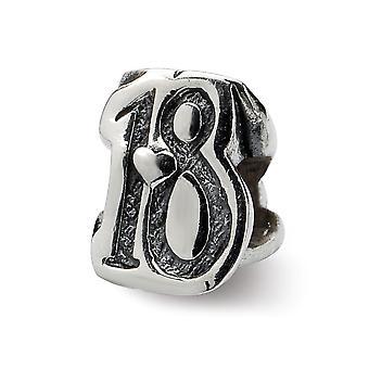 925 plata esterlina acabado Reflexiones dulces 18 perlas encanto colgante collar regalos de joyería para las mujeres