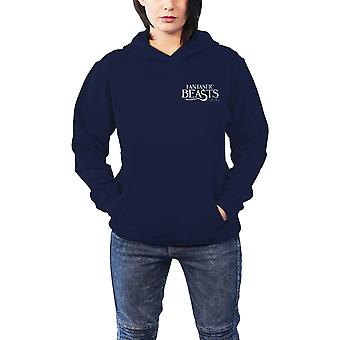 Fantastic Beasts Hoodie Macusa logo new Official Womens Slim Fit Blue Pullover