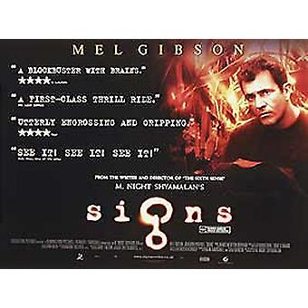 Cartel original del cine Signs (Double Sided)