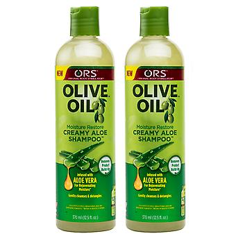 Organic Root Stimulator Olive Oil Creamy Aloe Shampoo 370ml (2 Pack)
