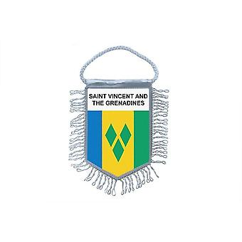 Flag Mini Flag Country Car Decoration Saint Vincent And Grenadines