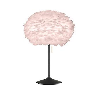 Umage Eos Table Lamp - Light Rose Feather Eos Medium/Black Stand