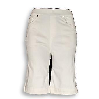 Belle by Kim Gravel Women's Shorts Flexibelle 5-Pocket White A307365