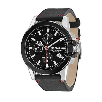Sector Chronograph quartz men's watch with leather R3271797004