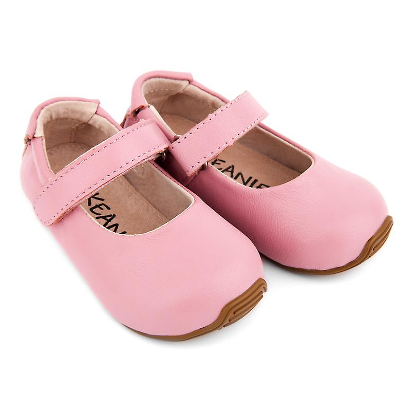 SKEANIE Toddler and Kids Leather Mary-Jane Shoes in Pink