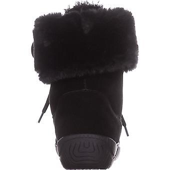 Tyyli & Co naisten Angiee nahka pyöreä kärki puoliväliin vasikka Cold Weather Boots