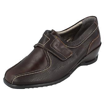 Ladies Suave Shoes Shelly Mocca/Chocolate Size 4 UK