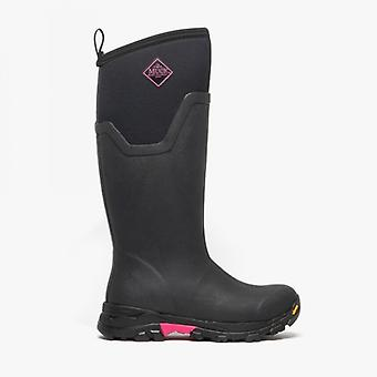 Muck Boots Arctic Ice Tall Ladies Rubber Wellington Boots Black/hot Pink