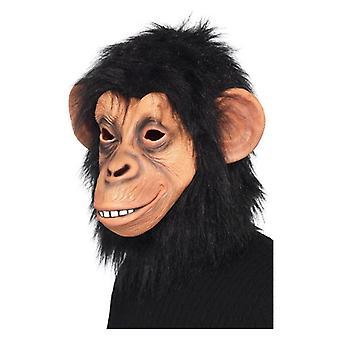 Adults Latex Overhead Chimp Mask Fancy Dress Accessory
